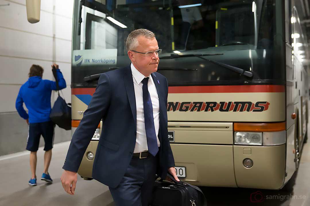 IFK Norrköping tränare Janne Andersson anländer till Friends Arena
