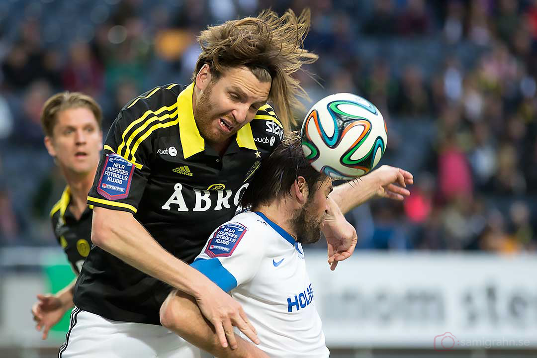 AIK Nils-Eric Johansson och IFK Norrköping Morten Morisbak Skönsberg