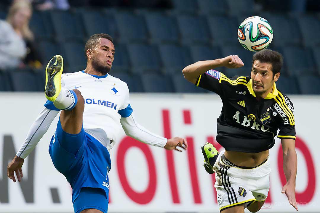 IFK Norrköping Christopher Nilsson Telo och AIK Celso Borges