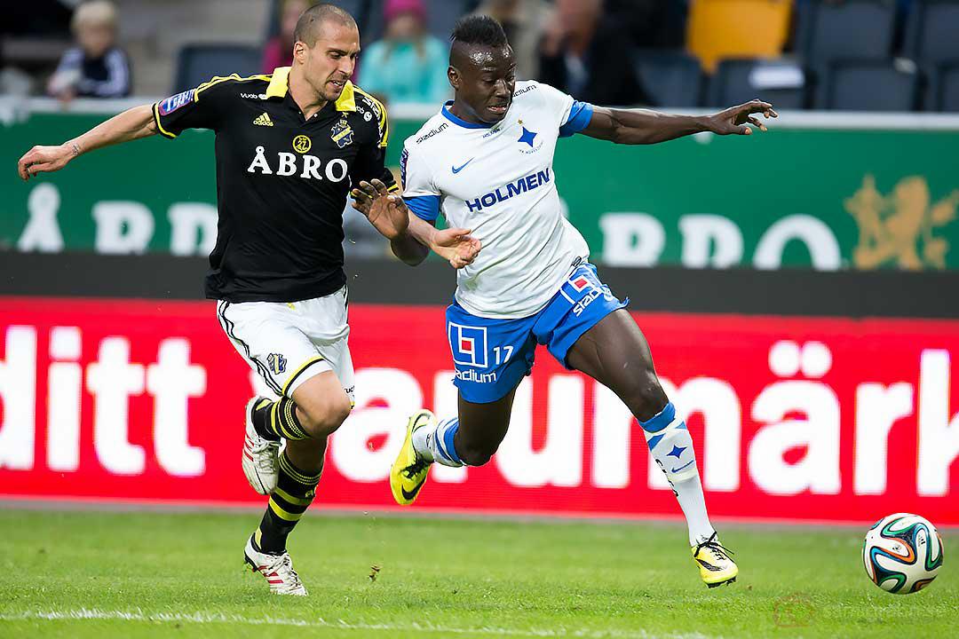 AIK Panajotis Dimitriadis jagar IFK Norrköping Alhaji Kamara
