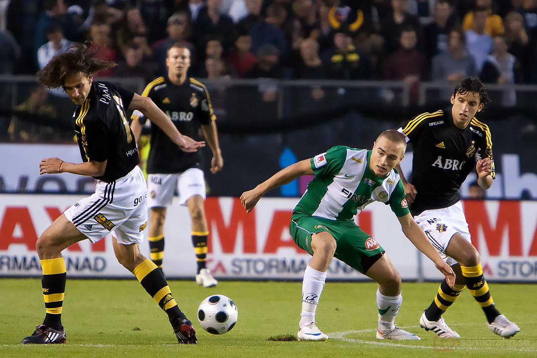 AIK Ivan Obolo och Jorge Ortiz