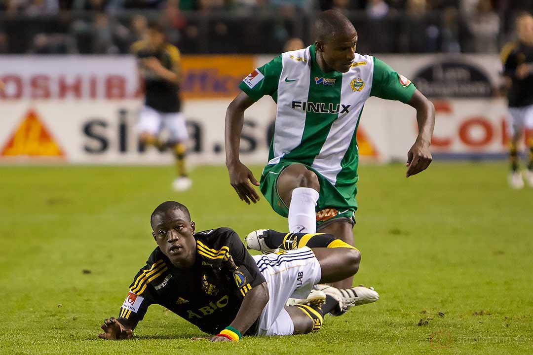 AIK Saihou Jagne faller för Hammarby Christian Traoré