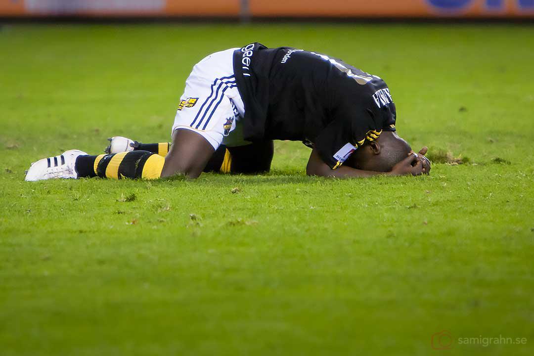 AIK Saihou Jagne deppar efter matchen