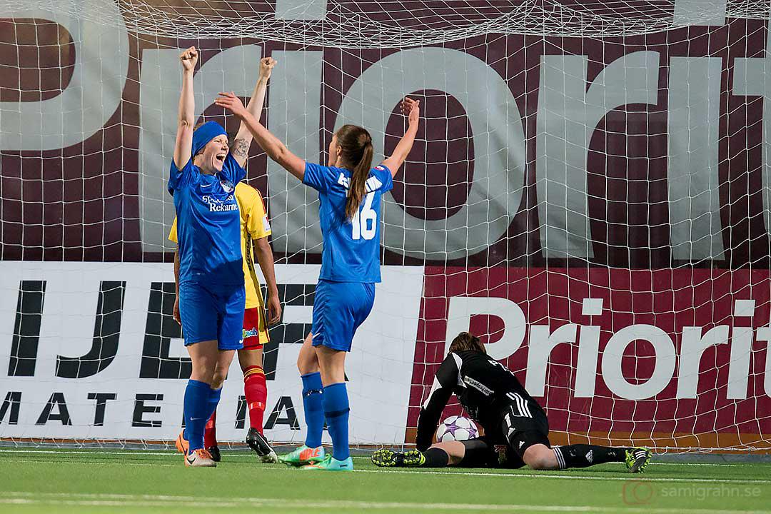 Måljubel när Eskilstuna Kim Ekebom Arodin gör 0-2 borta mot Tyresö FF