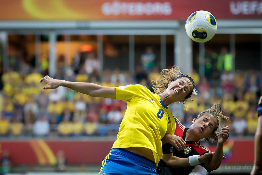 Sverige Lotta Schelin och Tyskland Lena Lotzen
