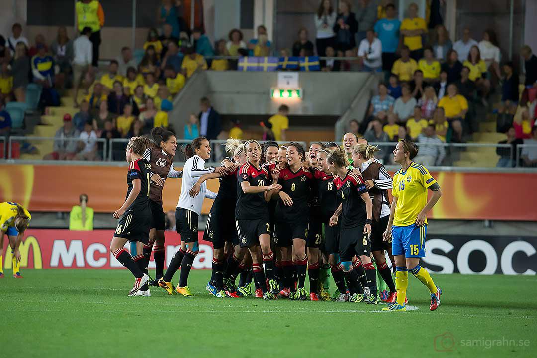 Tyskland jublar efter semifinalvinsten över Sverige