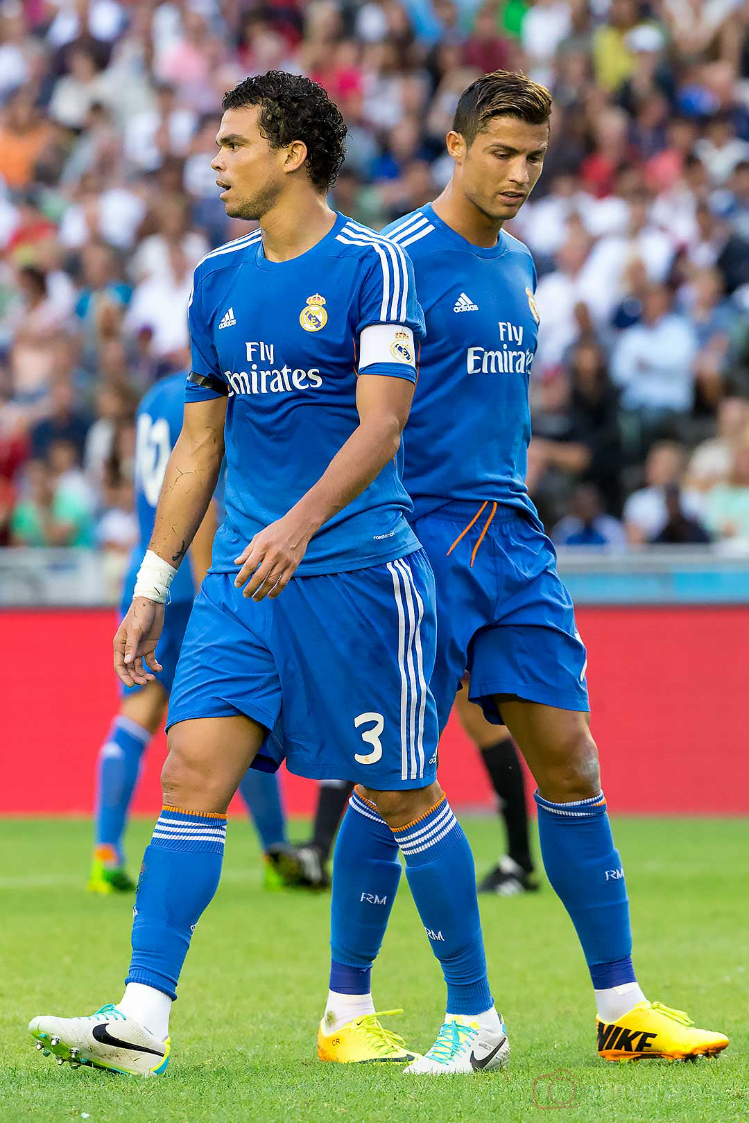 Real Madrid Pepe och Christiano Ronaldo