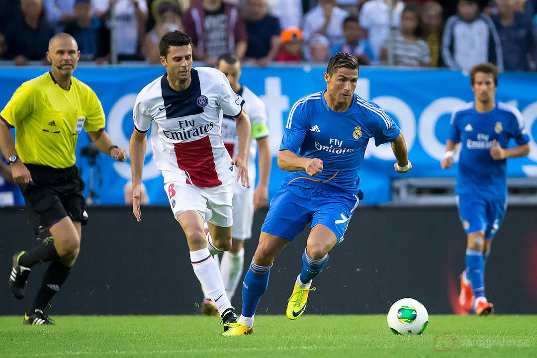 PSG Thiago Motta, Real Madrid Christiano Ronaldo