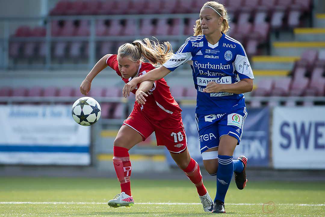 DIF Madeleine Stegius och Eskilstuna Frida Svensson