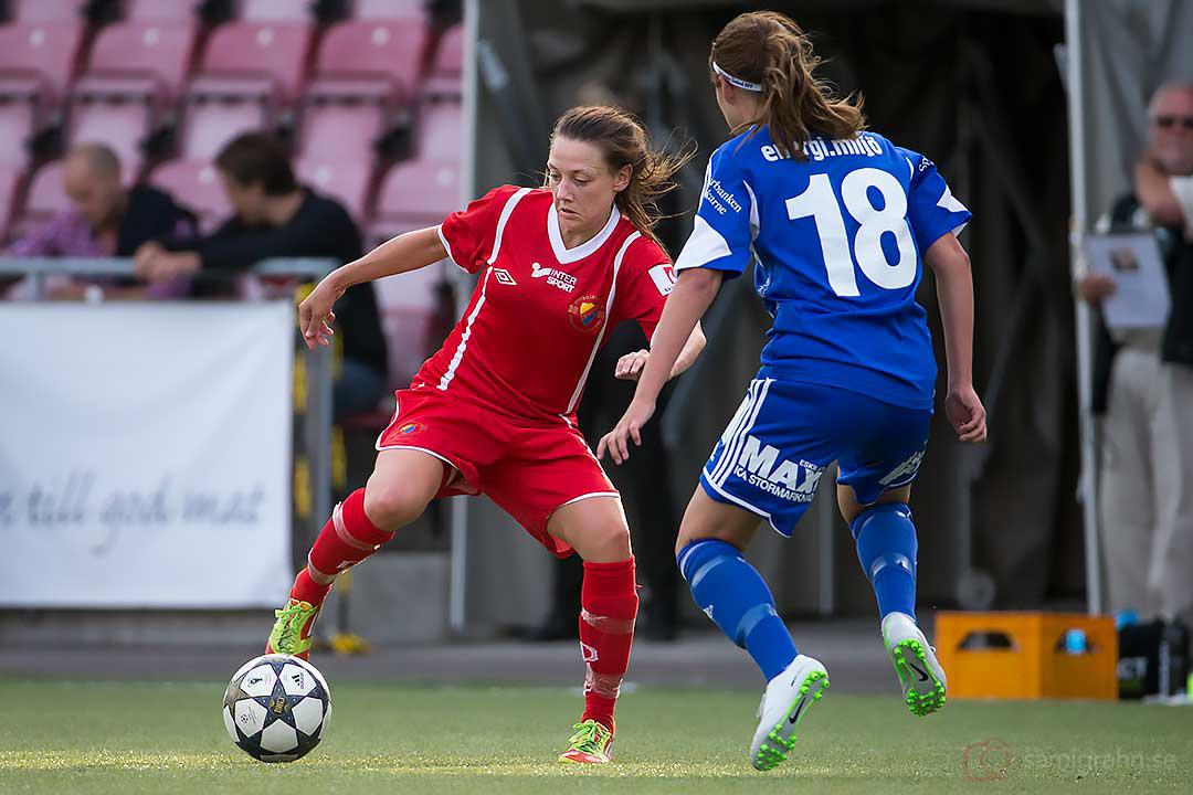 DIF Sofia De Besche och Eskilstuna Victoria Gustafsson