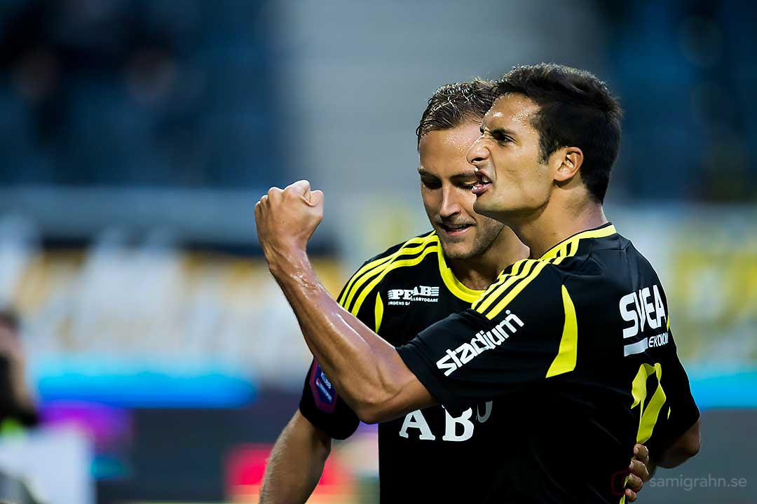 AIK Celso Borges jublar efter sitt mål