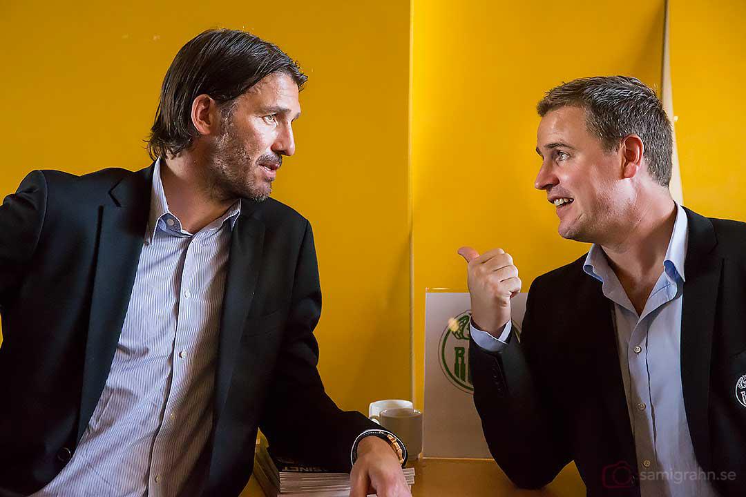 Hetsig diskussion mellan Rögle Andreas Lilja och Dan Tangnes