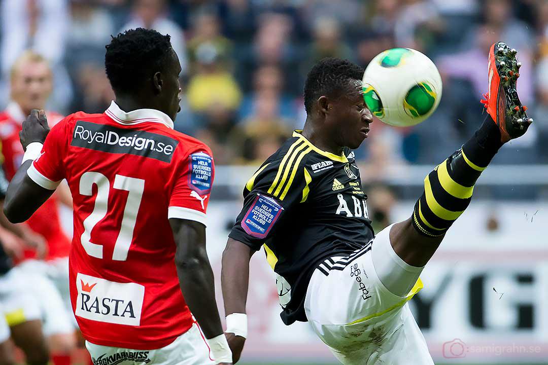 Kalmar Papa Alioune Diouf och AIK Ibrahim Moro