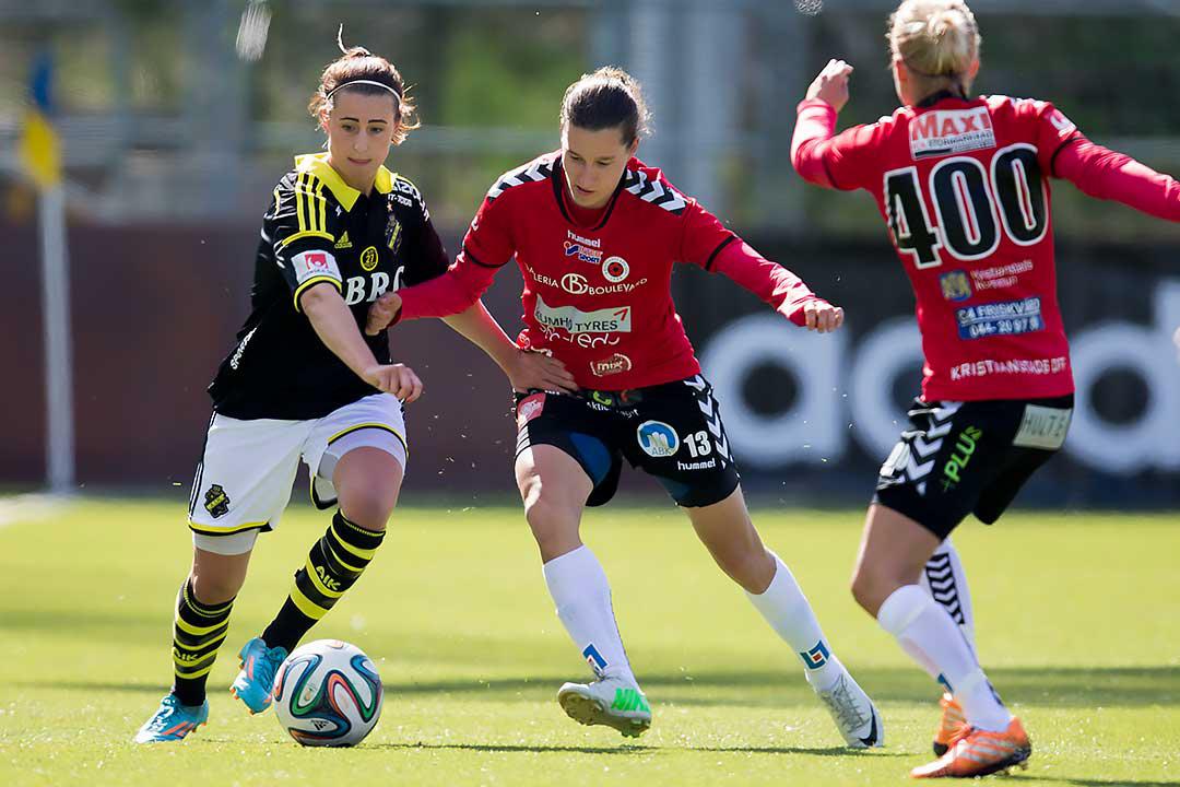 AIK Julia Molin mot Kristianstad Alice Nilsson och Therese Björck