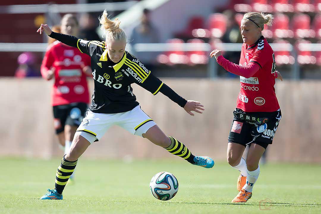 AIK Sarah Storck och Kristianstad Therese Björck
