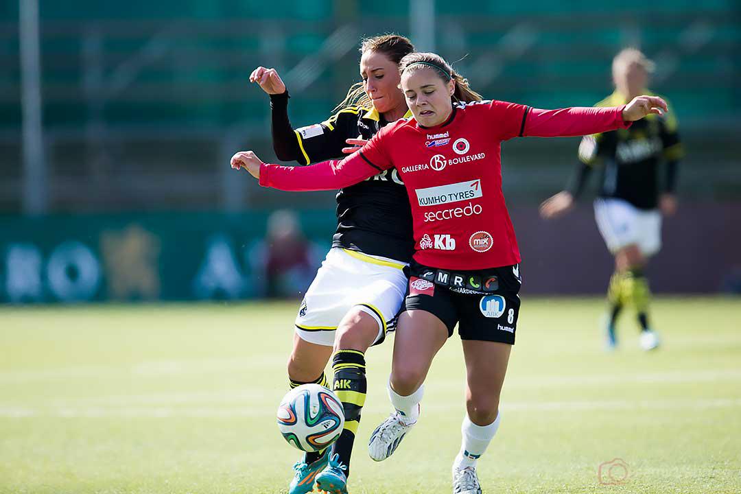 AIK Petra Andersson och Kristianstad Alice Nilsson