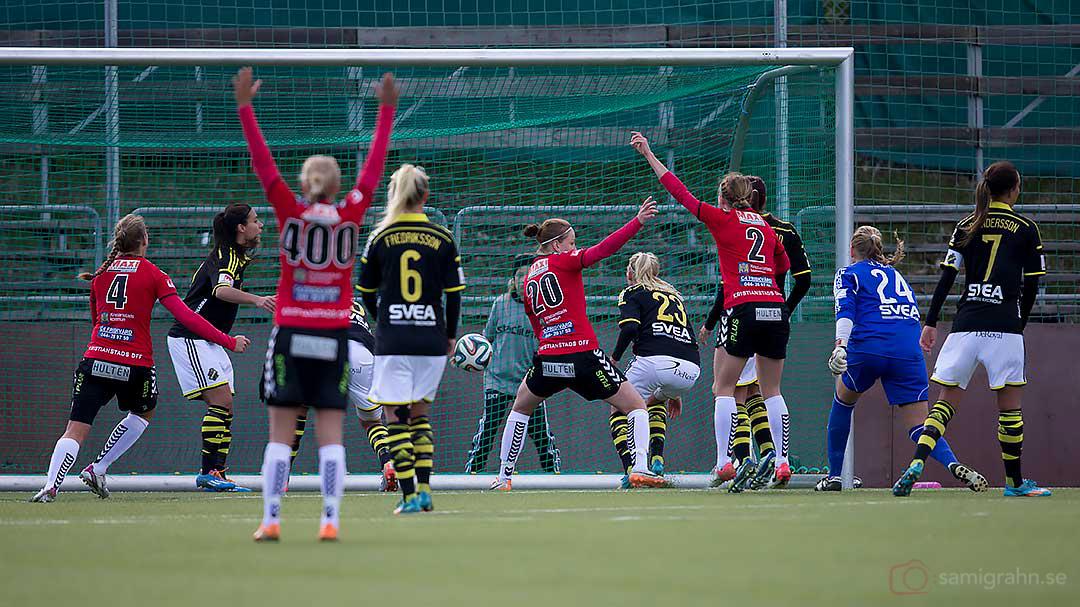 Mål av Kristianstad Mia Carlsson, nr 20