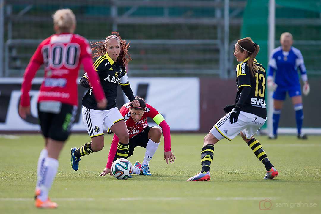 AIK Malin Levenstad och Madeleine Tegström