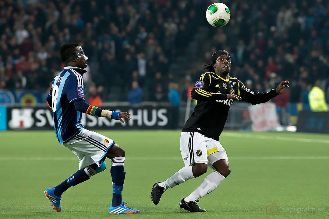 DIF Daniel Amartey och AIK Martin Kayongo Mutumba