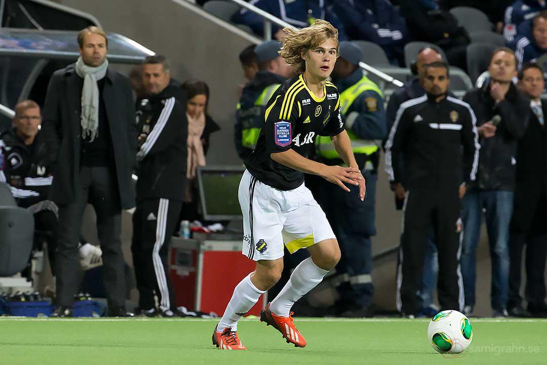 AIK tränare Andreas Alm och Sam Lundholm