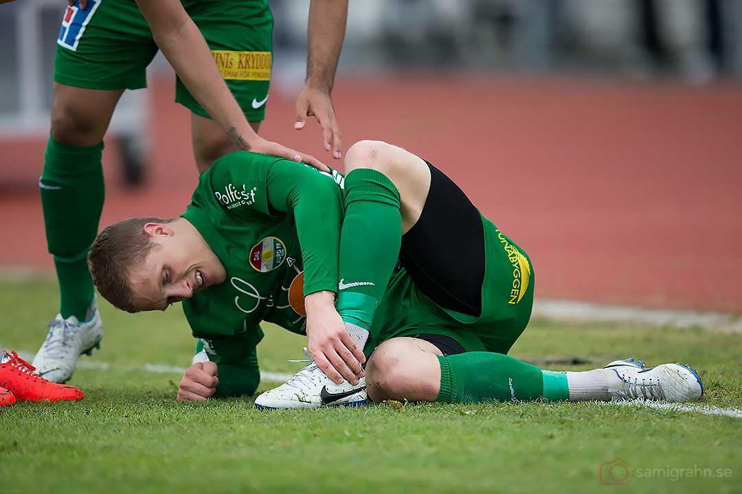 Dalkurd Alexander Ekblad har ont i foten