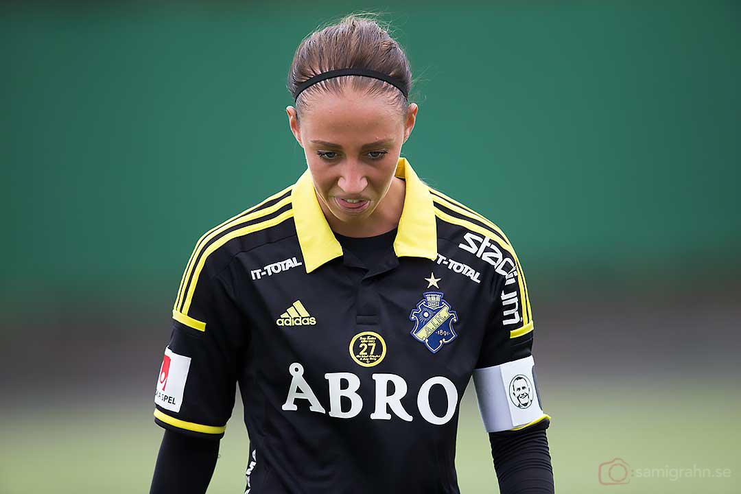 AIK Petra Andersson missnöjd med resultatet