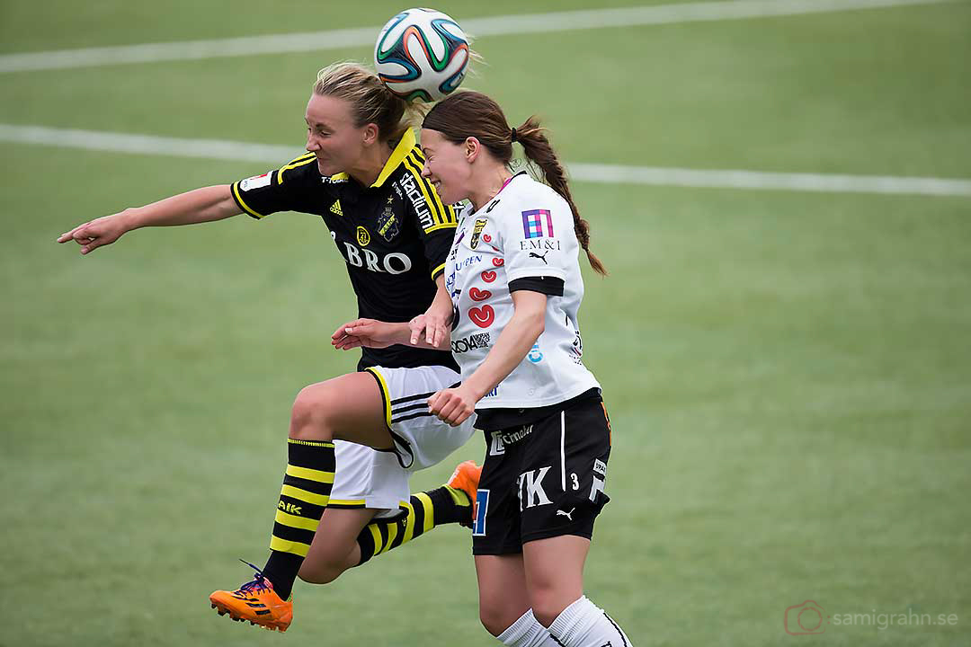 AIK Emma Lundh och Umeå Elin Landström