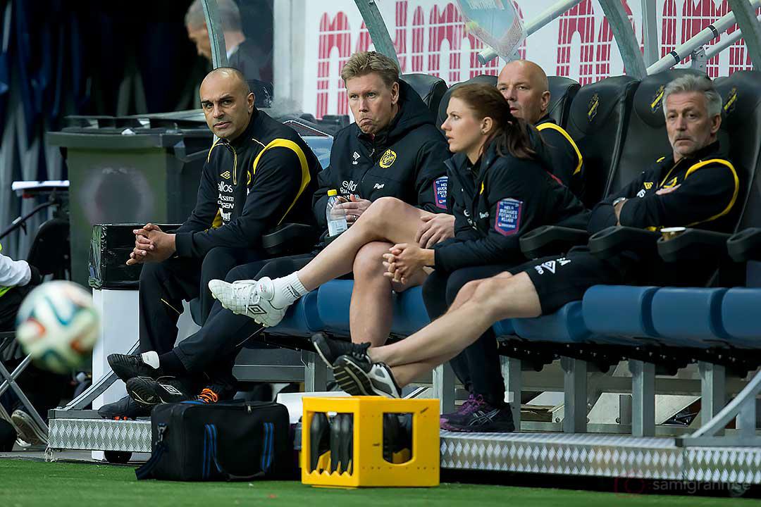 Elfsborg tränare Jan Mian ser bekymrad ut
