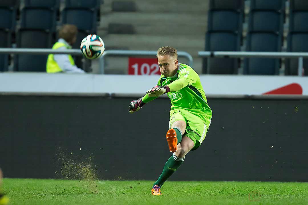 Utspark av AIK målvakt Patrik Carlgren