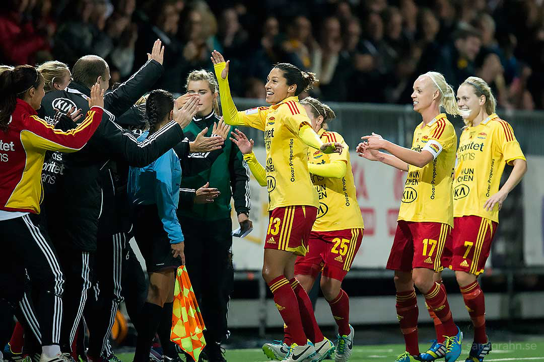 Målskytten Tyresö Christen Press gratuleras