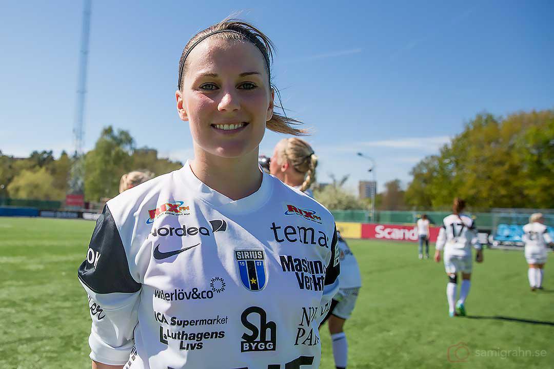 Sirius Caroline Lundberg blev tvåmålsskytt och matchens lirare
