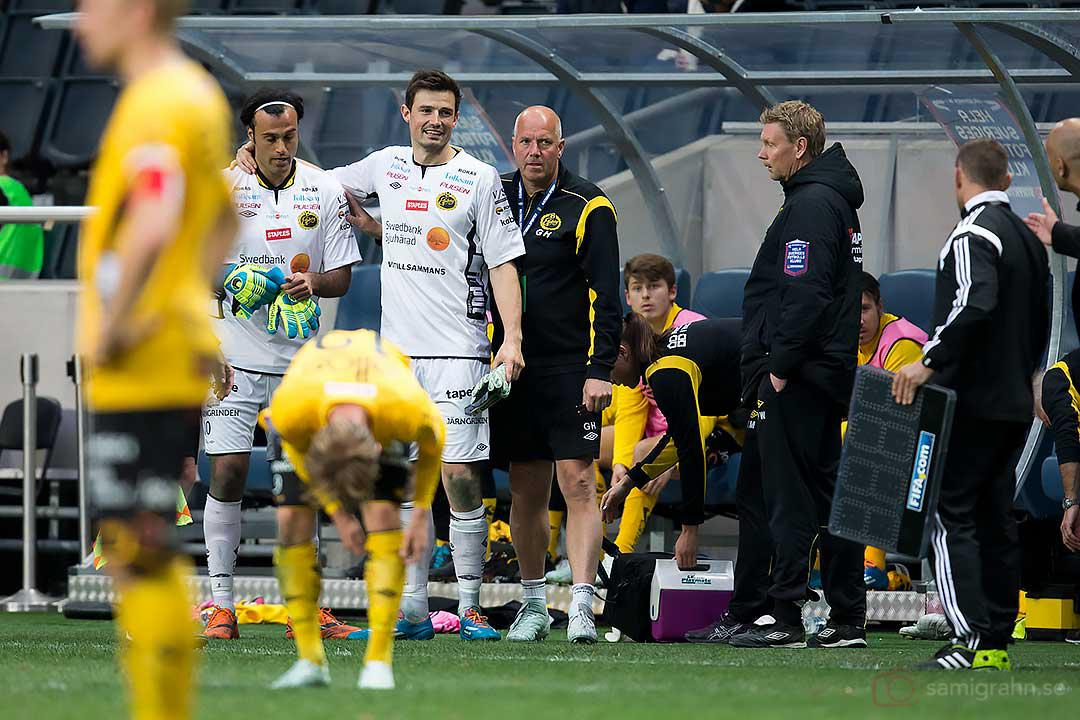 Elfsborg målvakt Abbas Hassan byttes in istället för skadade Kevin Stuhr-Ellegaard