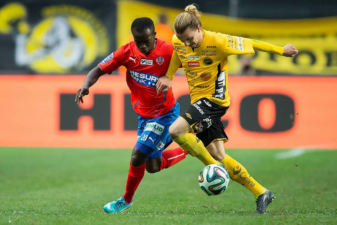 Helsingborg Emmanuel Boateng och Elfsborg Niklas Hult