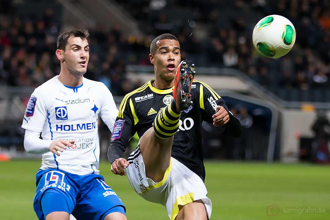 Norrköping Nikola Tkalcic och AIK Robin Quaison