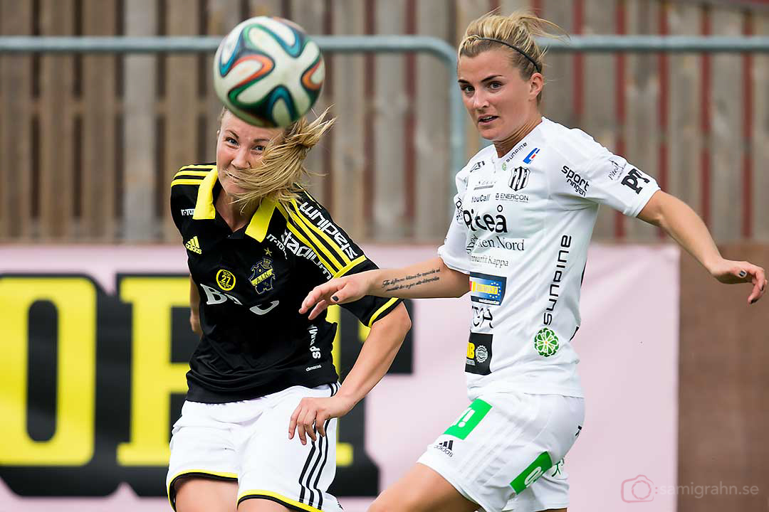 AIK Emma Lundh och Piteå Emelie Lövgren