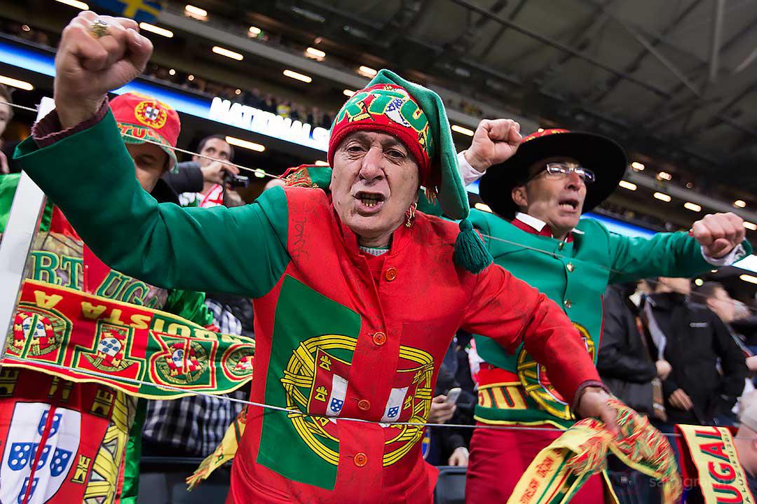 Portugisiska supportrar