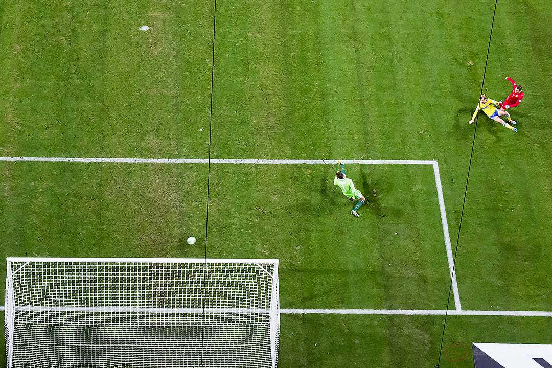 Portugal Cristiano Ronaldos mål sett från ovan