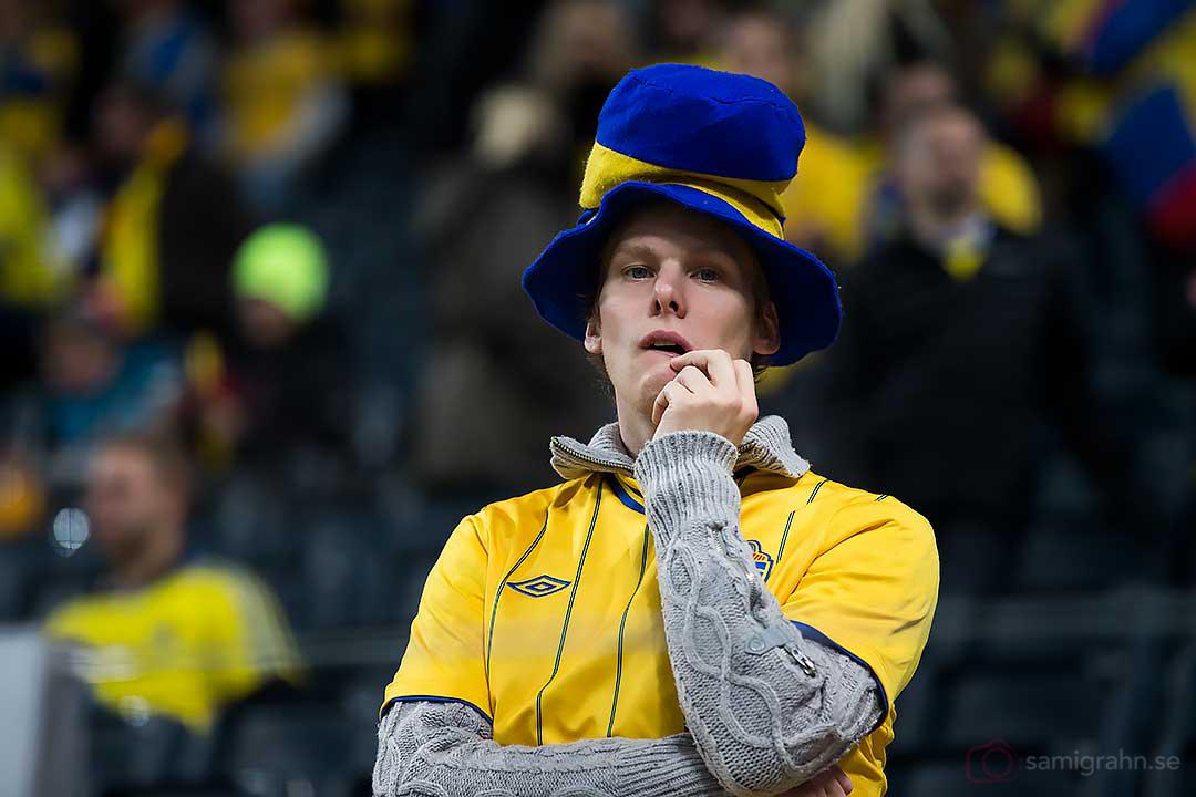 En svensk supporter deppar