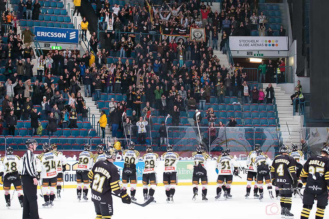 Brynäs tackar de egna supportrarna efter 5-2-vinsten