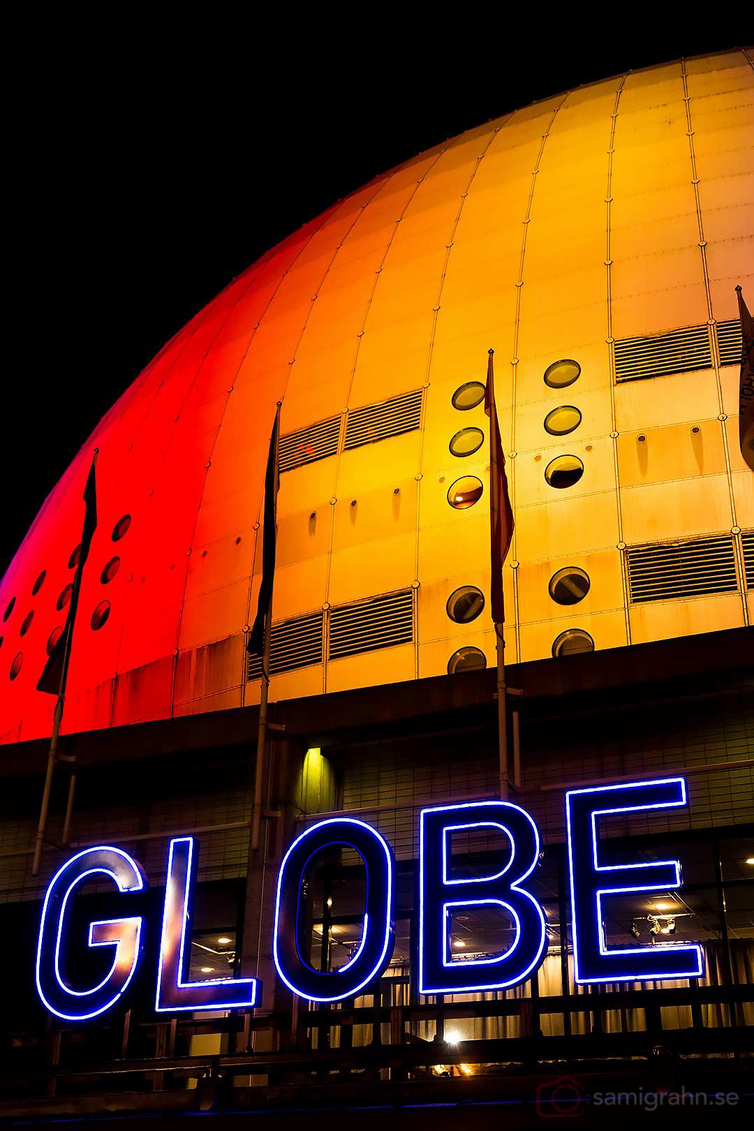 Globen sett från Hovets entré