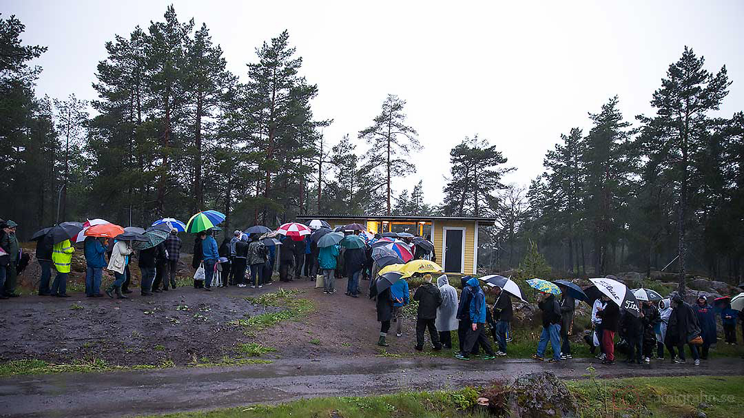 Publiken köade ut från Parken i Hallstavik