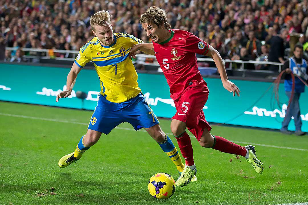 Sverige Sebastian Larsson och Portugal Fábio Coentrão