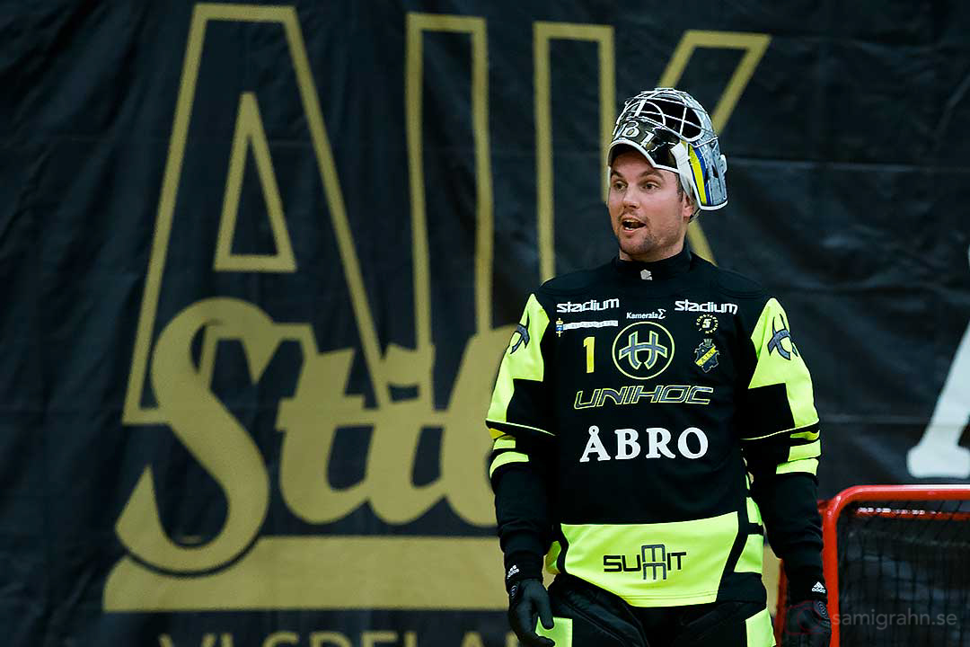 Landslagets och AIK:s målvakt Patrik Åman