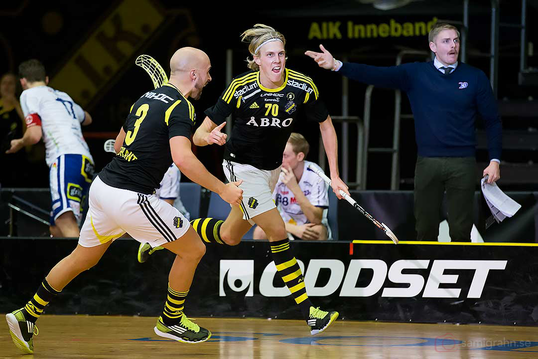 AIK Kim Nilsson jublar efter sitt mål